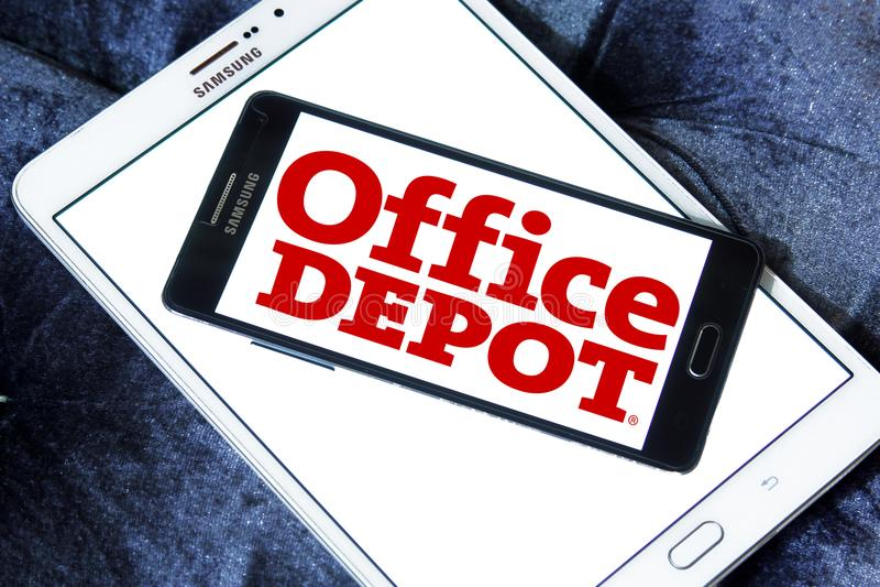 Biurowy zajezdnia detalisty logo obraz stock