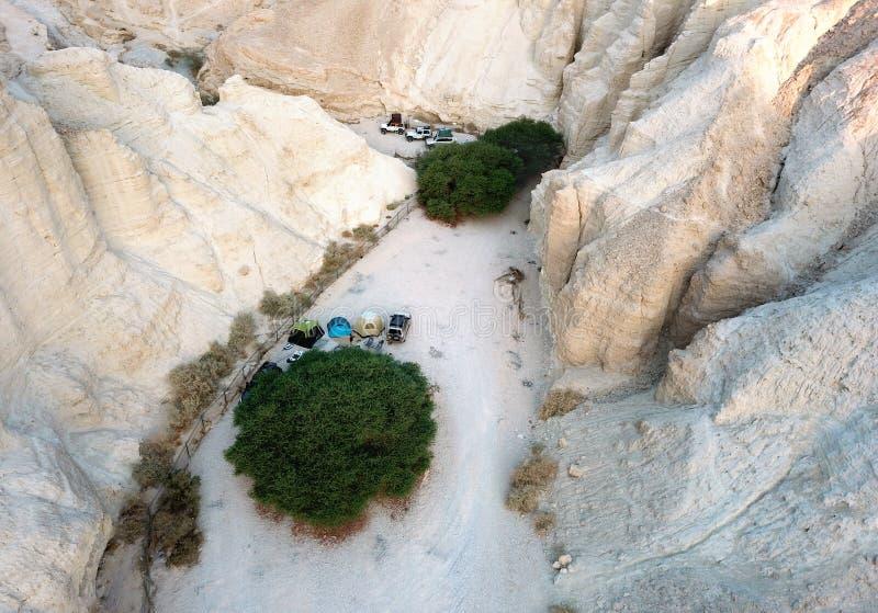 Bivack i öknen Arava, Israel royaltyfri fotografi