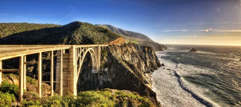 Bixby小河桥梁美国 免版税库存照片