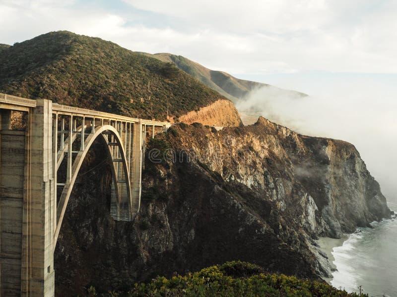 Bixby Brücke - großes Sur - Kalifornien stockbild