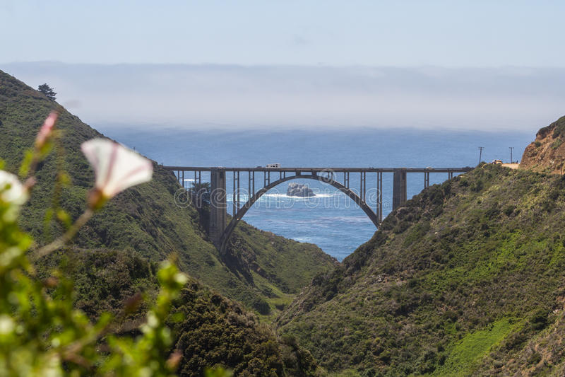 Bixby-Brücke, Kalifornien lizenzfreies stockfoto