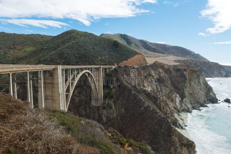 Bixby most na Cabrillo autostradzie zdjęcia stock