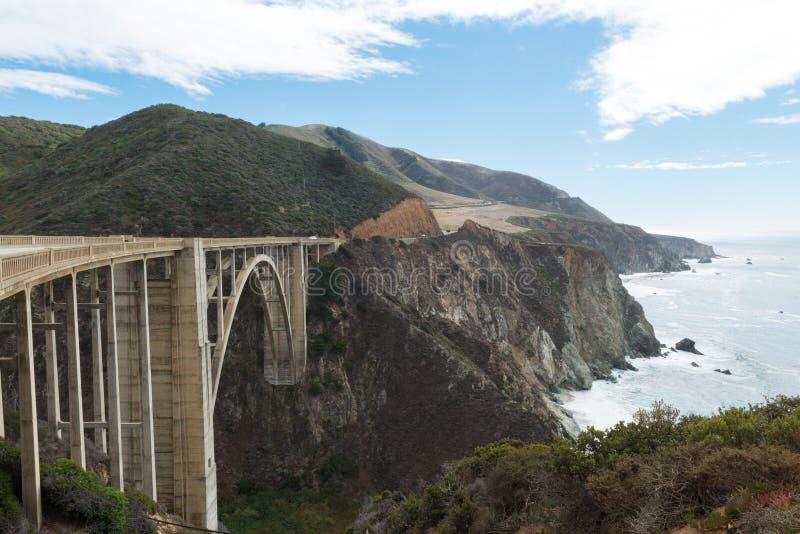 Bixby most na Cabrillo autostradzie zdjęcie stock