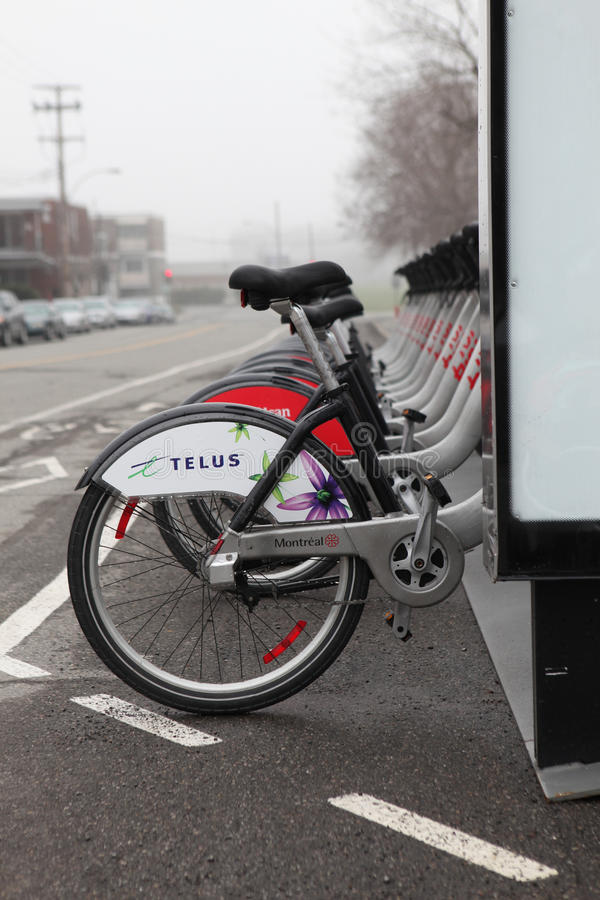 Bixi bicycles in Montreal
