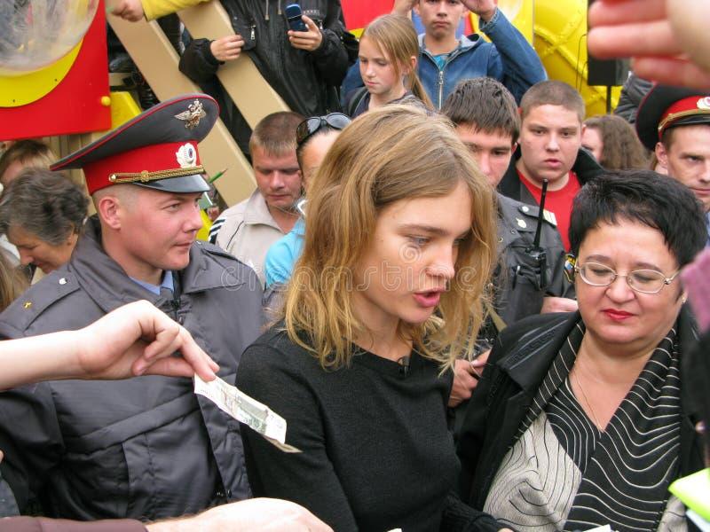 biysk模型纳塔利娅vodianova 免版税库存图片