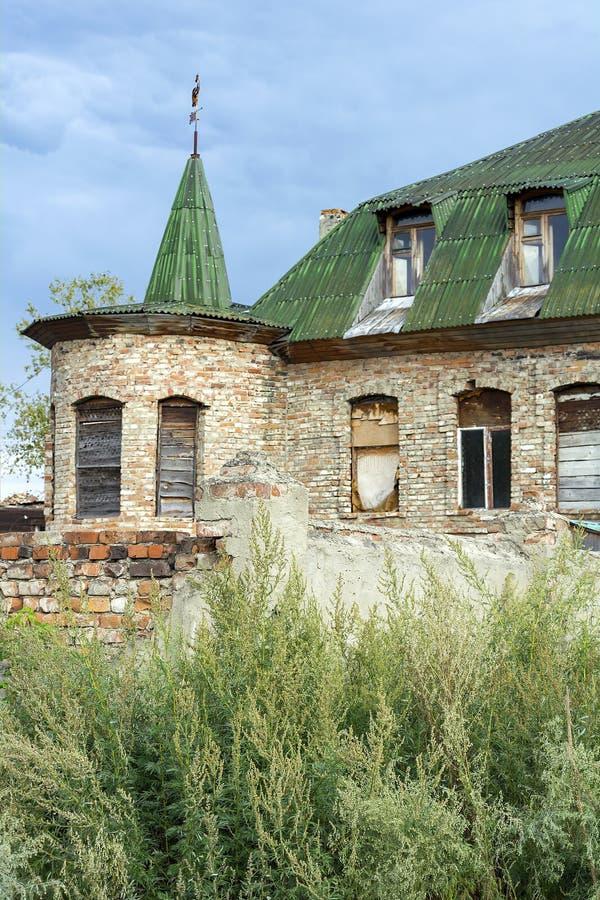 Biysk,老砖房子 免版税图库摄影
