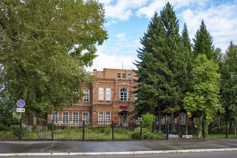 Biysk, здание спортзала бывших женщин стоковые изображения rf