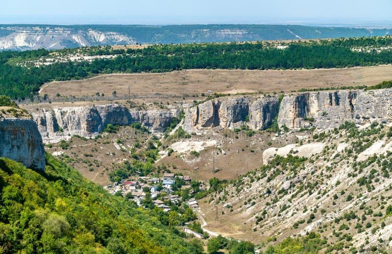 Biyuk-Ashlama-Dere gorge in Bakhchisarai, Crimea. N mountains, Europe royalty free stock photo