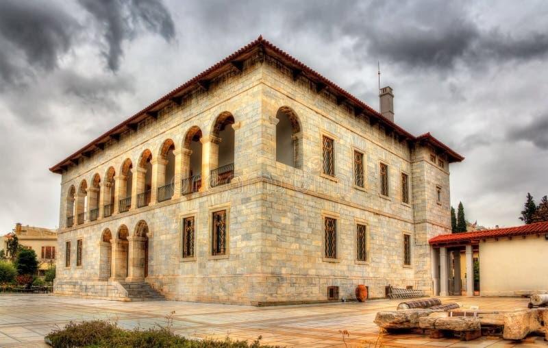Bizantino e Christian Museum em Atenas imagem de stock