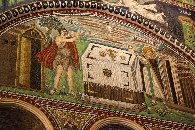 Bizantyjska mozaika od San Vitale bazyliki w Ravenna zdjęcie royalty free