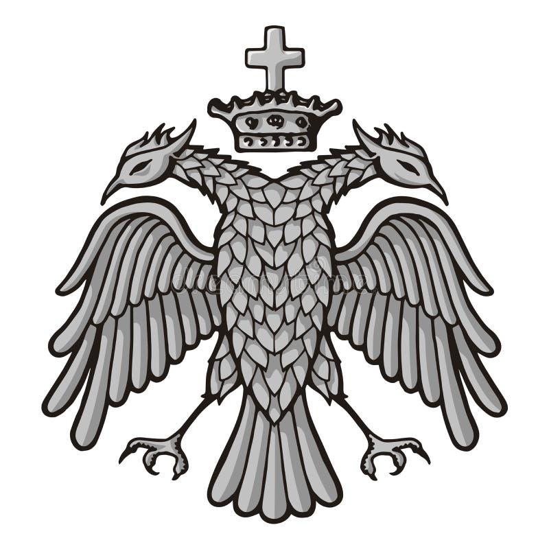Bizantyjski Eagle z koroną ilustracja wektor