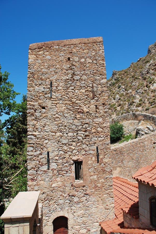 Bizantyjski monaster, Tilos fotografia stock