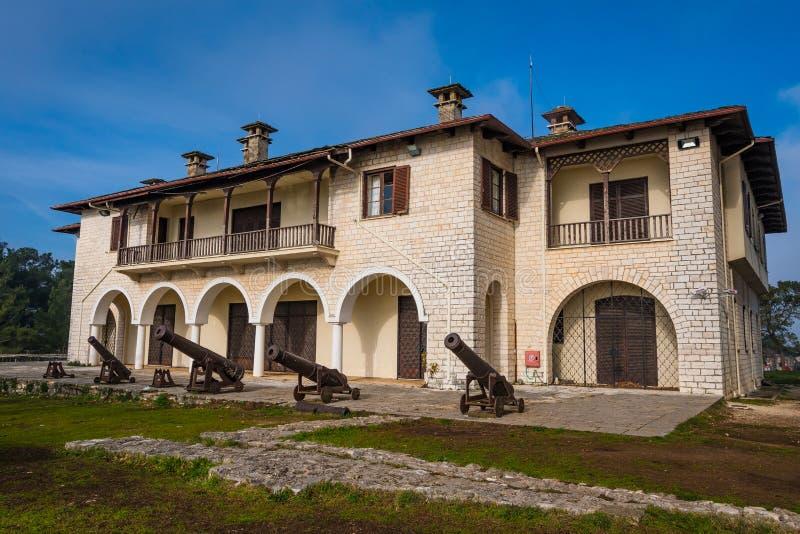 Bizantyjski muzeum Ioannina w Grecja mieści w jeden budynki cytadela Swój Kale Ioannina zdjęcia stock