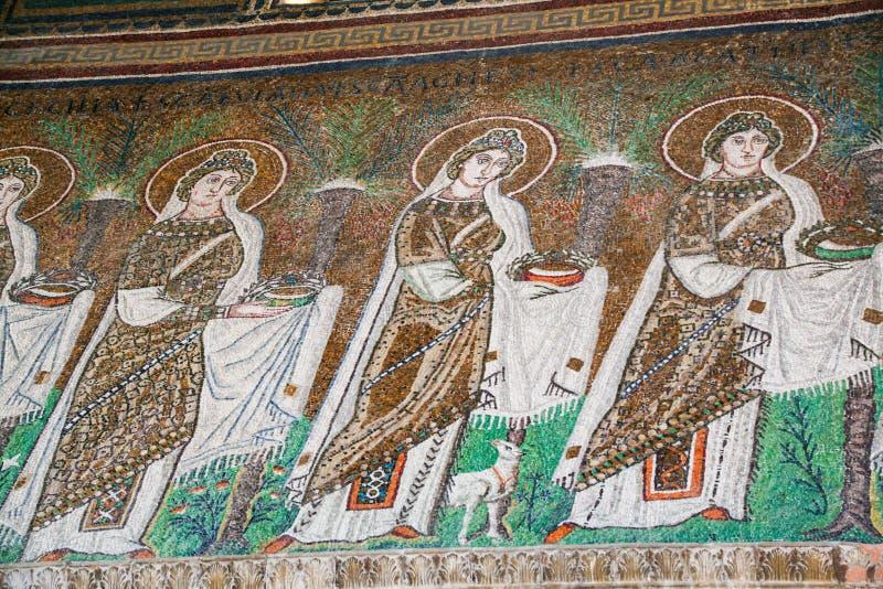 Bizantyjskie mozaiki z wizerunkami święty fotografia royalty free