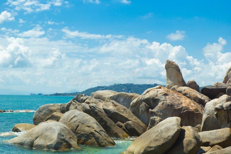 Bizar rots (hin yai van Ta hin) beroemd oriëntatiepunt van Koh Samui royalty-vrije stock foto's