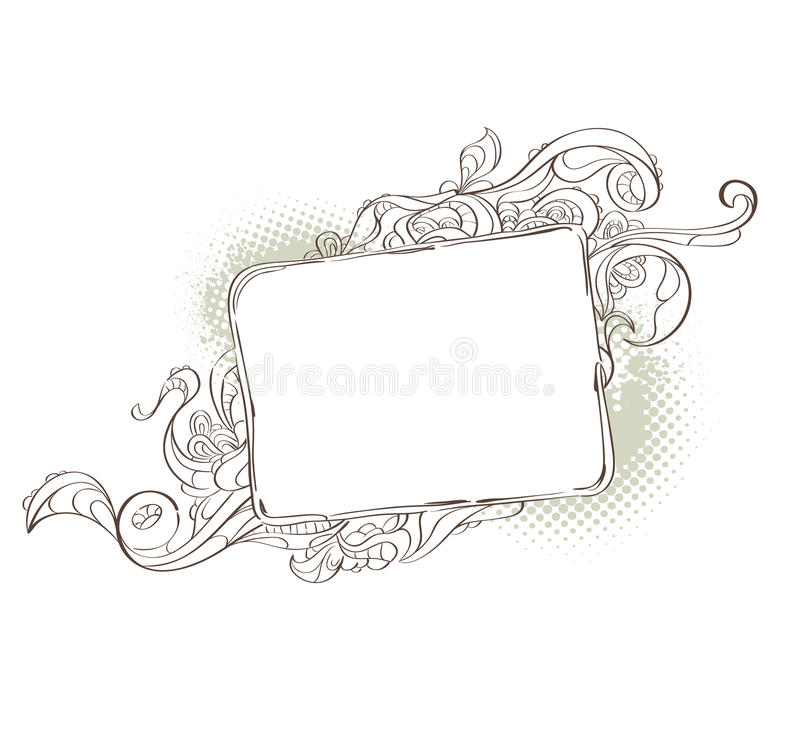 Bizarre background for your text royalty free illustration