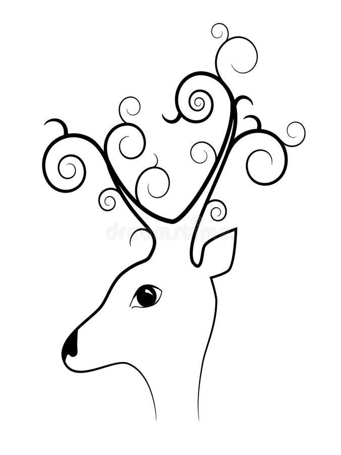 Download Bizarre deer stock vector. Image of image, decor, swirl - 16976691