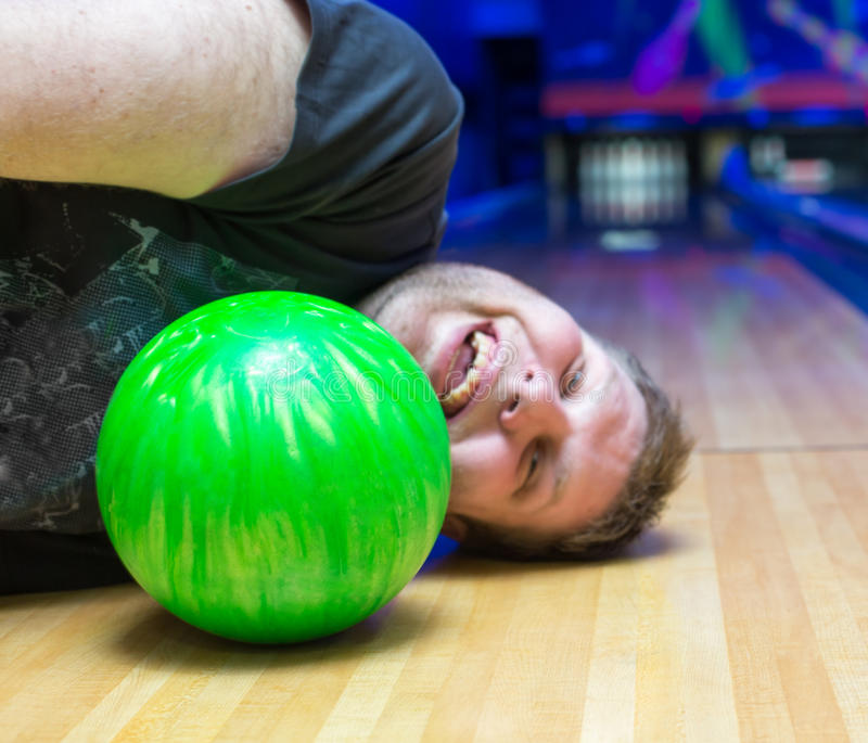 Download Drunk man on bowling alley stock image. Image of bowling - 30226287