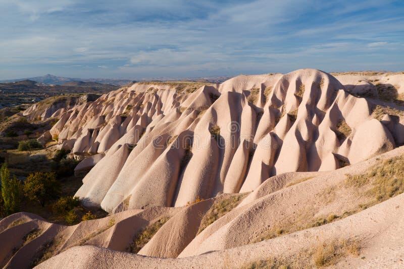 Bizarre geologische vormingen in Cappadocia royalty-vrije stock afbeeldingen