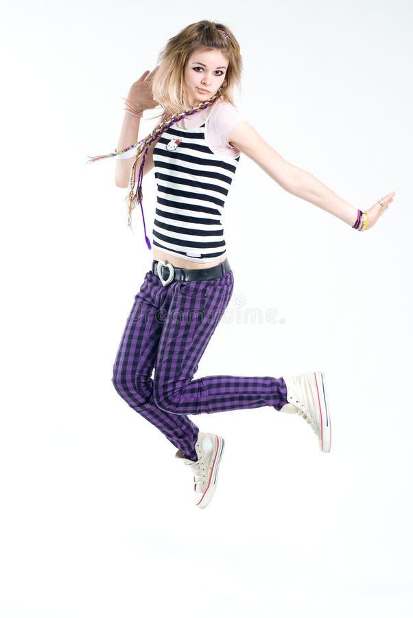 Download Bizarre Jumping Girl Stock Photo - Image: 8437990