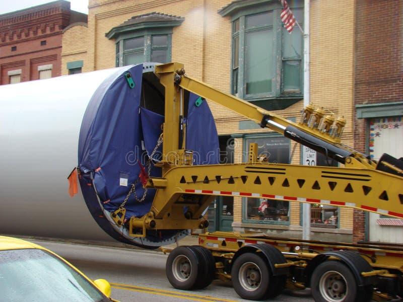 Bizarre oversize truck load stock photo