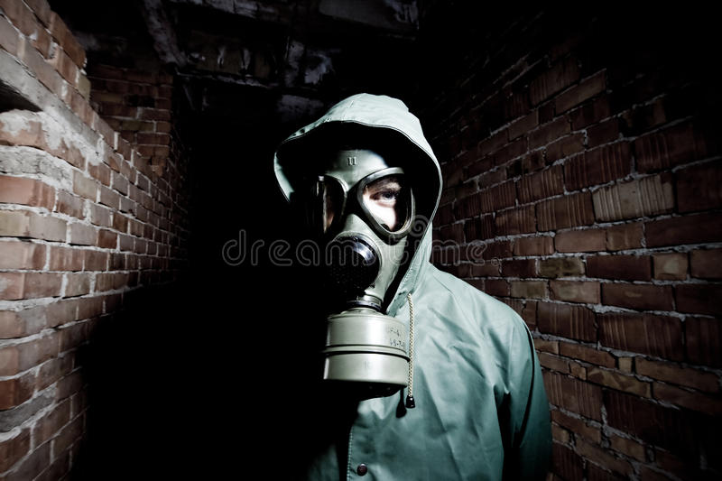 Download Bizarre Portrait Of Man In Gas Mask Stock Image - Image: 19553909