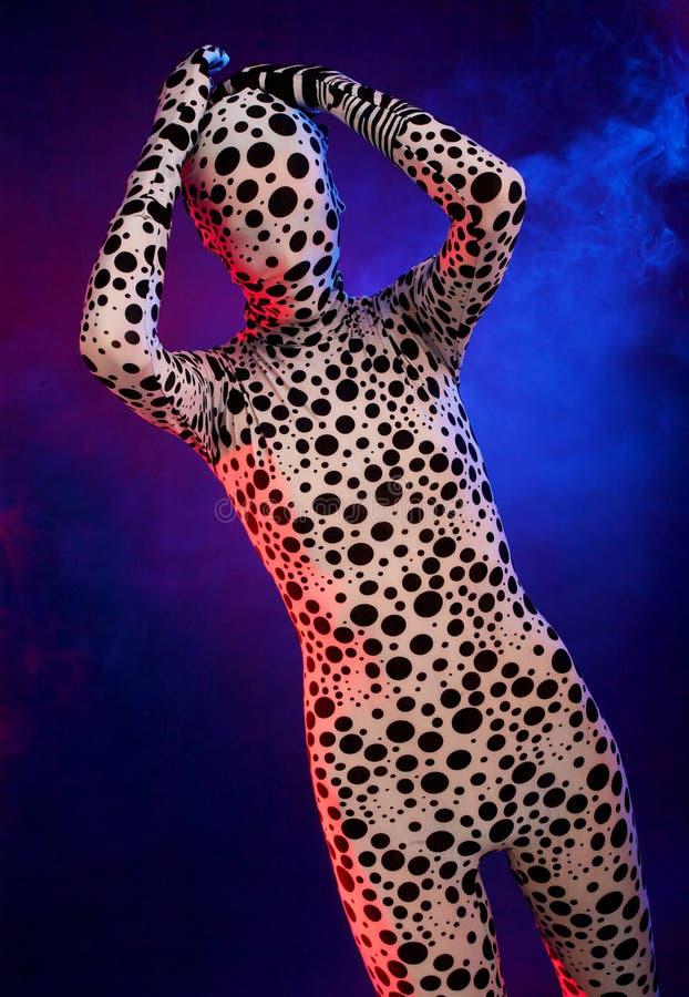 Download Bizarre Silhouette In The Colored Smoke Stock Image - Image: 11189011