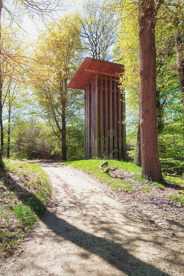 Bizarre and useless folly in The Loo park located in Apeldoorn. In the Netherlands royalty free stock images