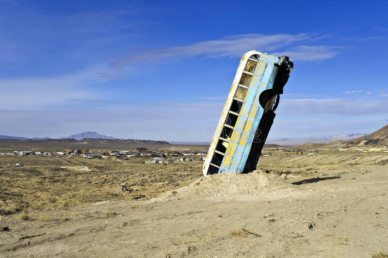 Bizarre Vehicle Art In Rural Nevada Stock Photography