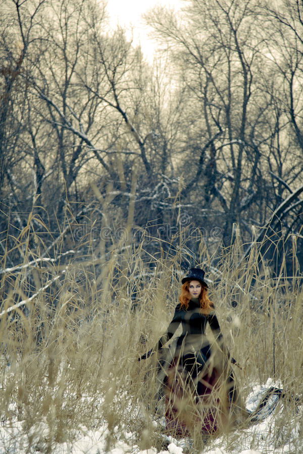 Download Bizarre Witch In The Forest Stock Image - Image: 18177189