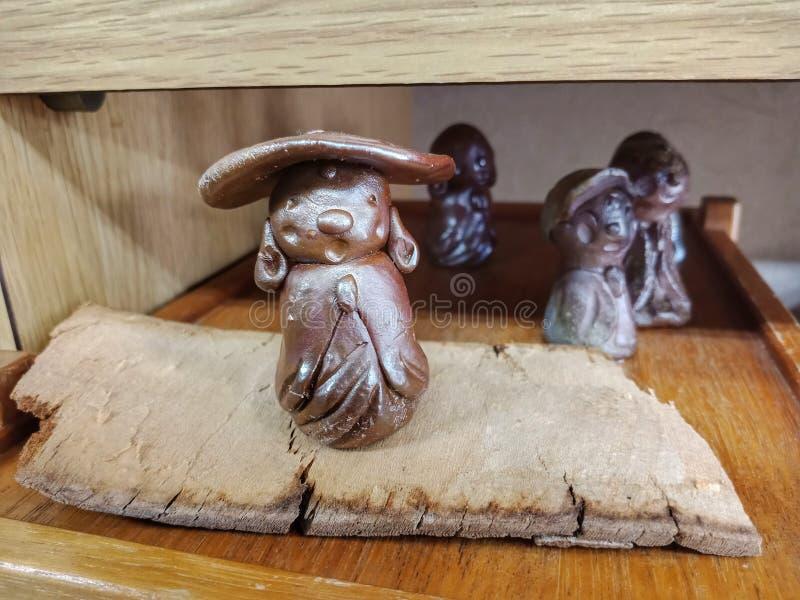 Bizen craft, handmade. Cute Bizen craft from Imbe village, Japan stock photography