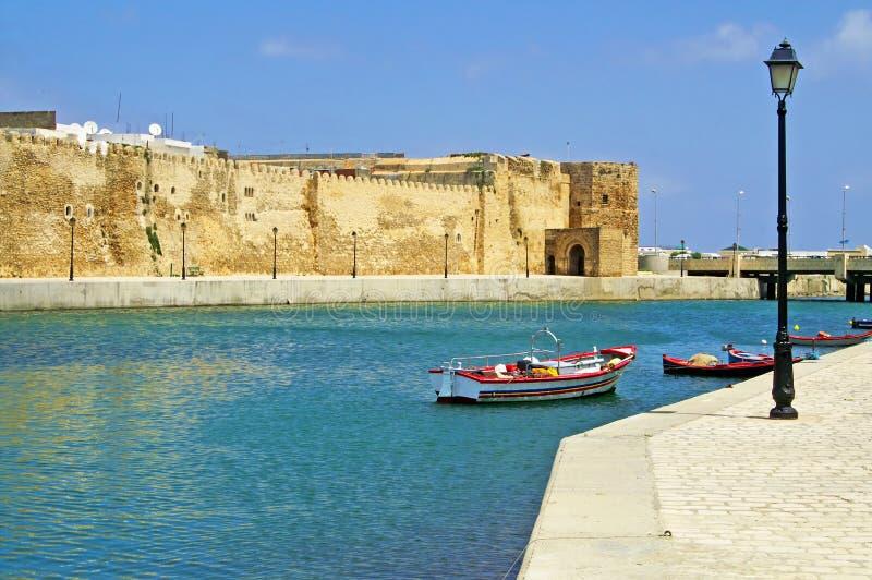 Bizerte,突尼斯堡垒  免版税库存图片