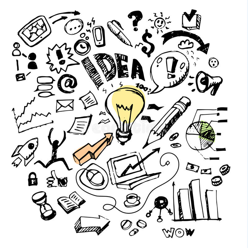 Biznesów doodles pomysł royalty ilustracja