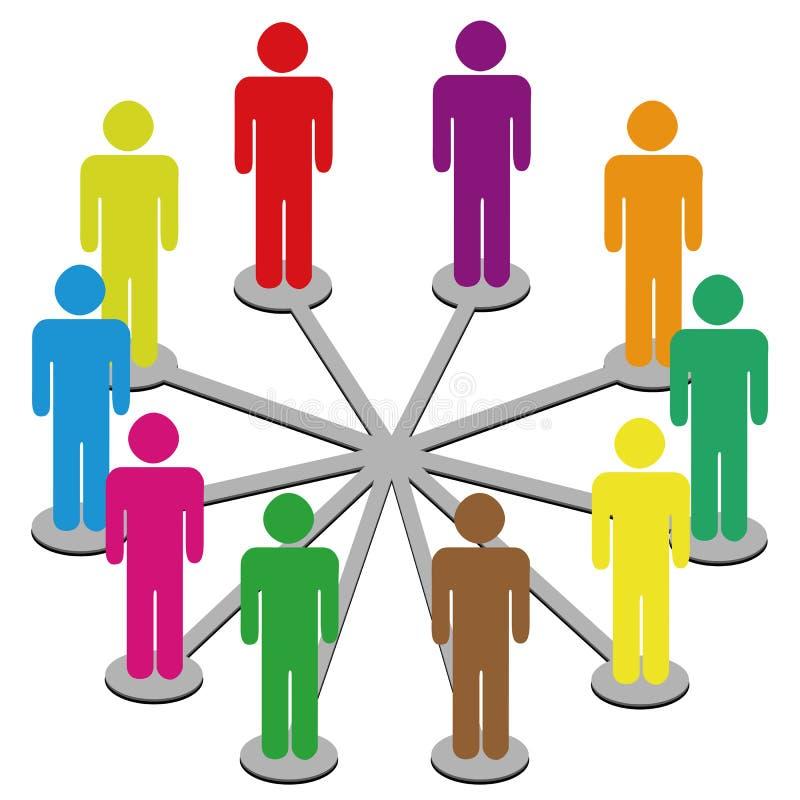 biznes łączy ogólnospołecznych sieci medialnych ludzi ilustracja wektor