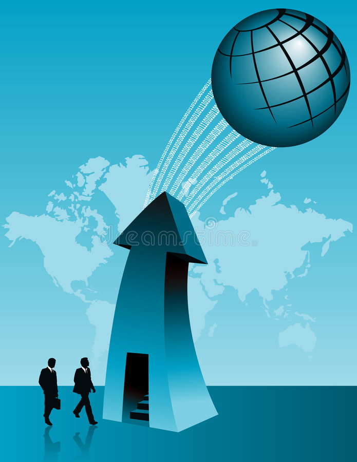 biznes światowy sukces ilustracji