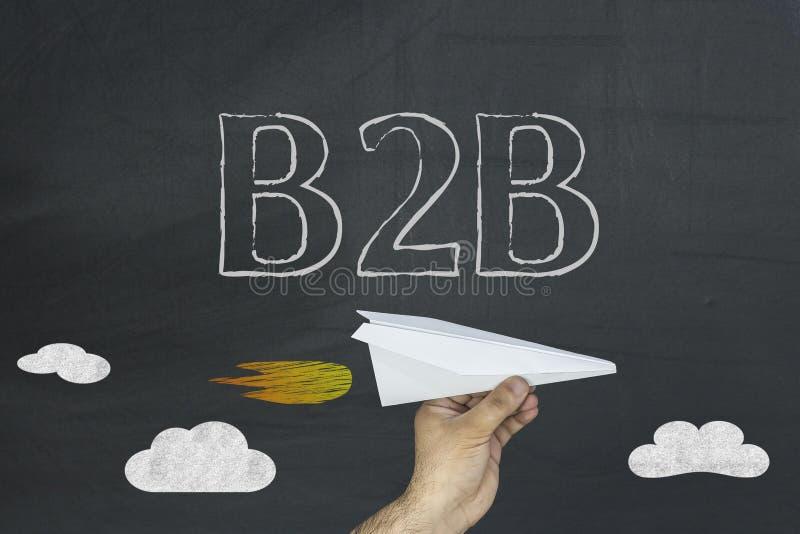 Biznes businss B2B pojęcie na blackboard zdjęcia stock