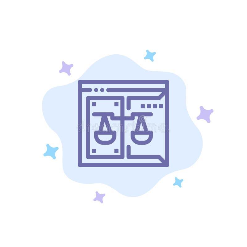 Biznes, Copyright, sąd, Digital, prawo Błękitna ikona na abstrakt chmury tle royalty ilustracja