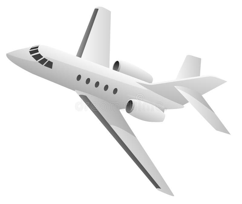 Biznes Dżetowa Samolotowa ilustracja ilustracja wektor