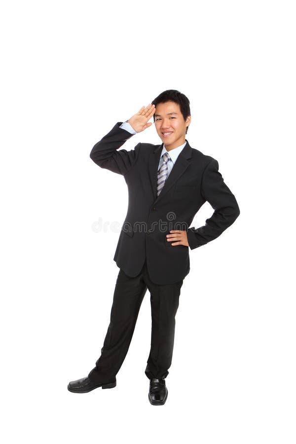 biznes daje mężczyzna salutowi obrazy royalty free