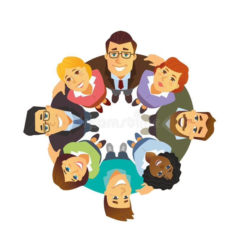 Biznes drużyna - kreskówka charakteru ludzie odizolowywali ilustrację royalty ilustracja