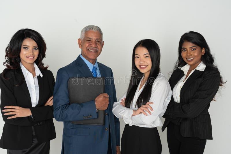 Biznes drużyna Mniejszościowi pracownicy zdjęcia stock