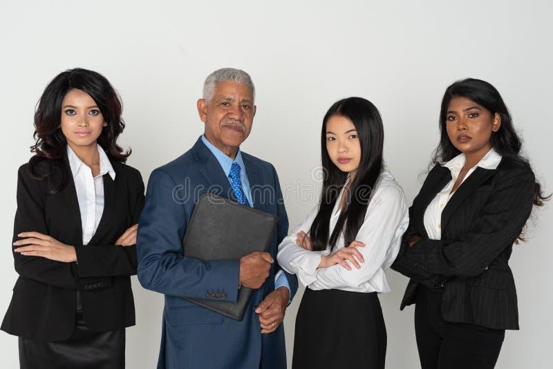 Biznes drużyna Mniejszościowi pracownicy zdjęcie royalty free