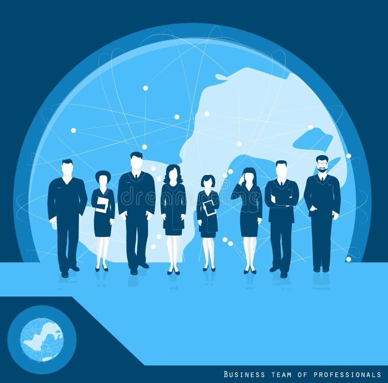 Biznes drużyna profesjonalisty biznesowy pojęcie na całym świecie Vec ilustracji