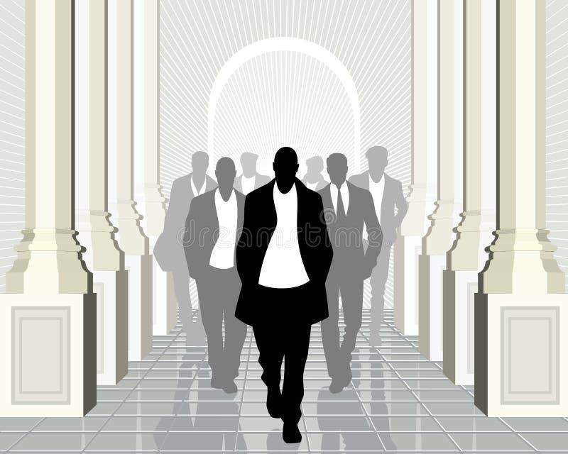 Biznes drużyna z liderem naprzód ilustracji