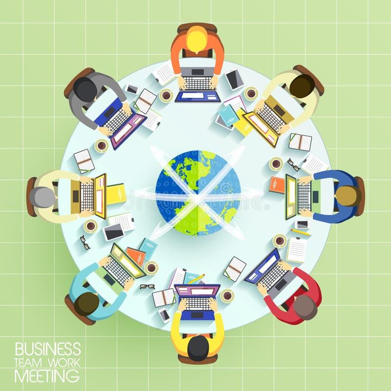 Biznes drużyny pracy spotkania pojęcie ilustracji