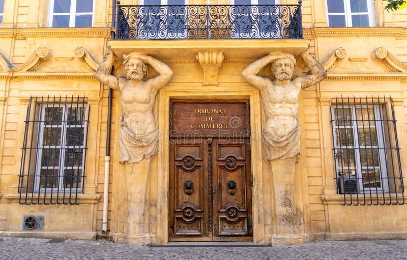 Biznes Dworska architektura przy Aix en Provence obrazy royalty free