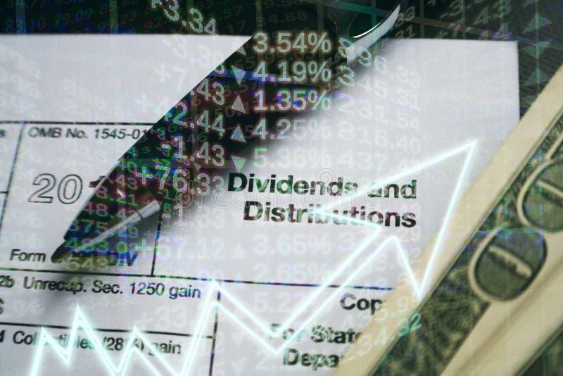 Biznes & finanse dywidendy Wysokiej Jakości dystrybucje & zdjęcia stock