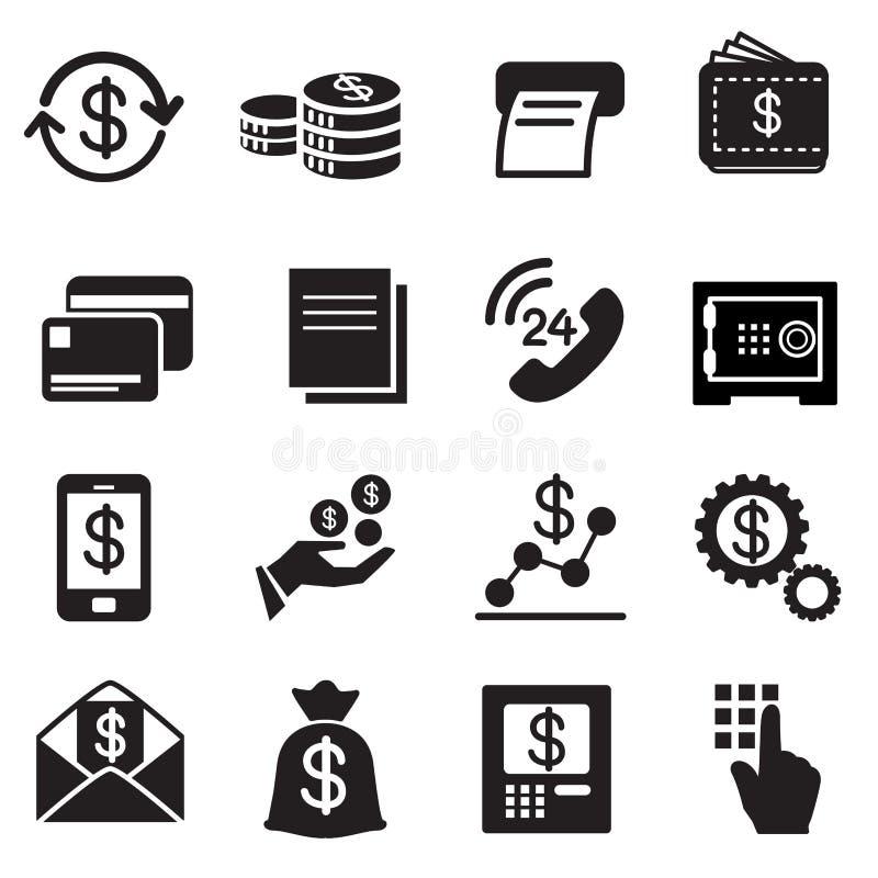 Biznes, finanse, Inwestorskie ikony Ustawiać royalty ilustracja