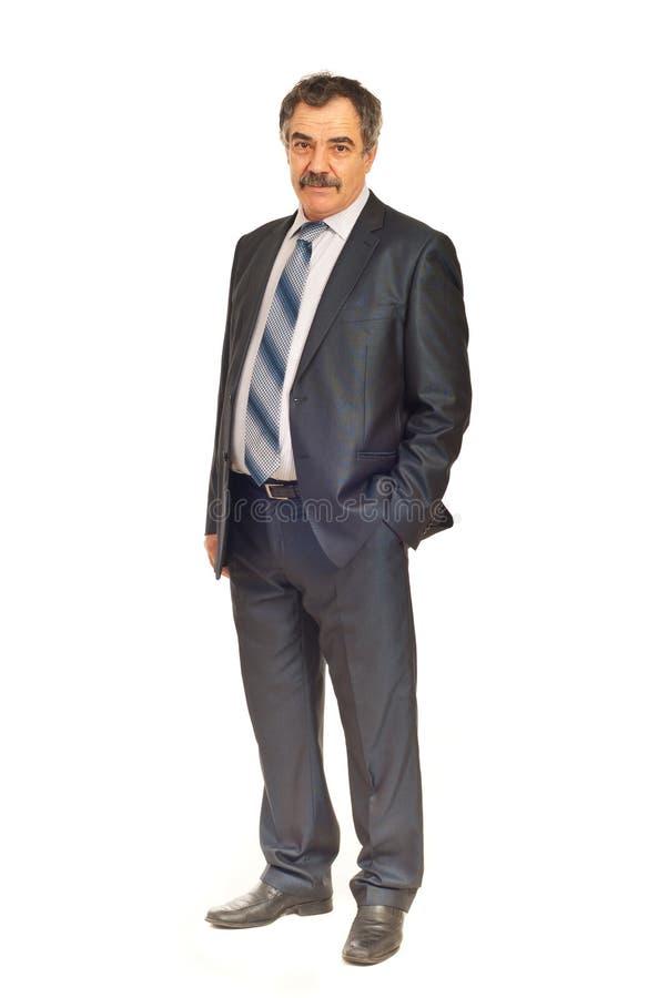 biznes folował dojrzałego długość mężczyzna obrazy stock