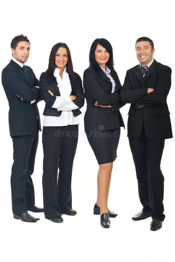 biznes folujący grupowi długości ludzie obrazy stock